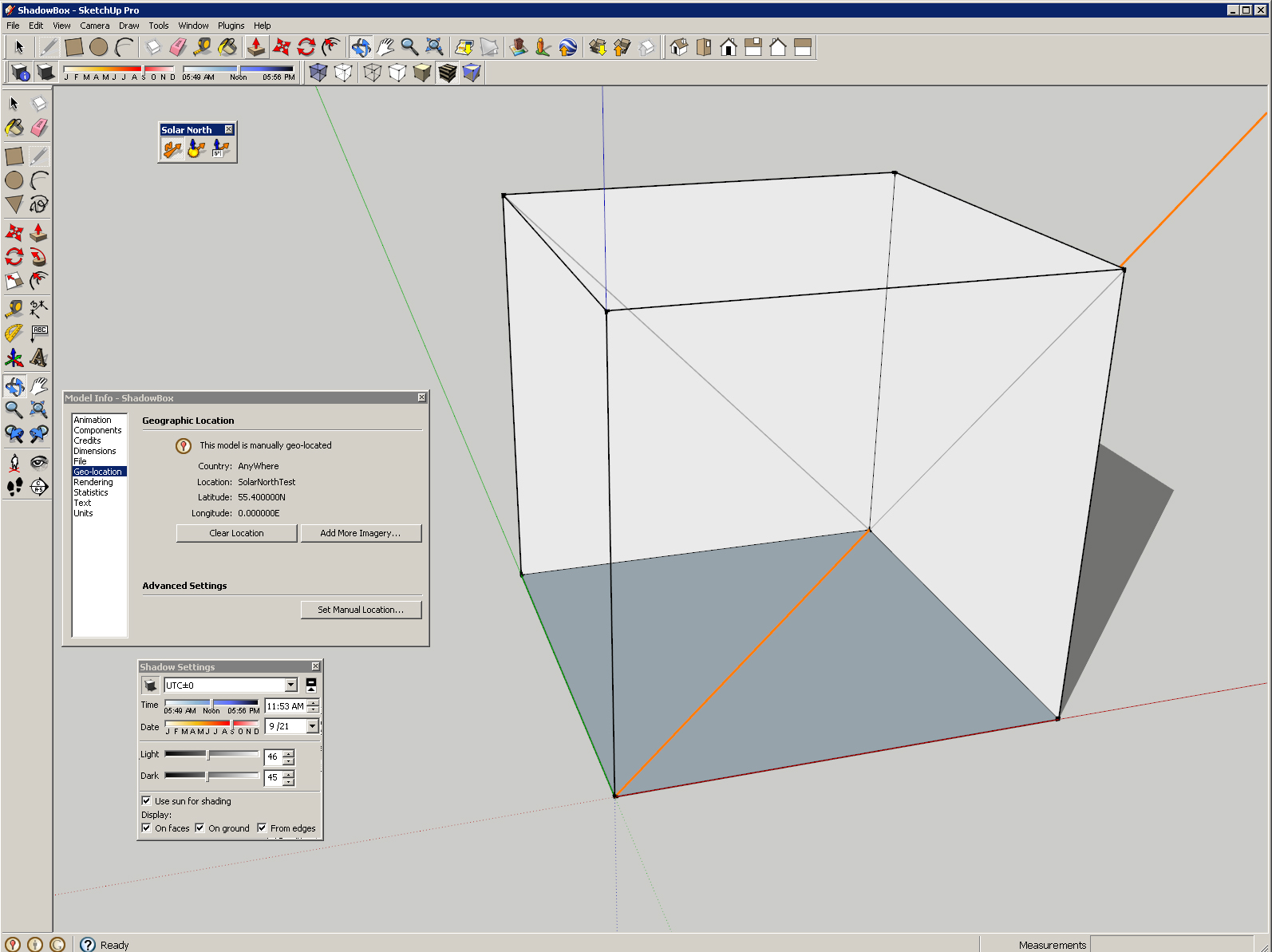 Aligning the sun in sketchup gnarly architecture shadowbox2 pooptronica