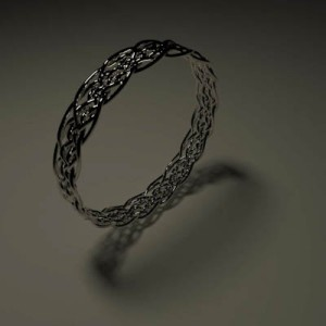 Initial design concept for the wedding rings.
