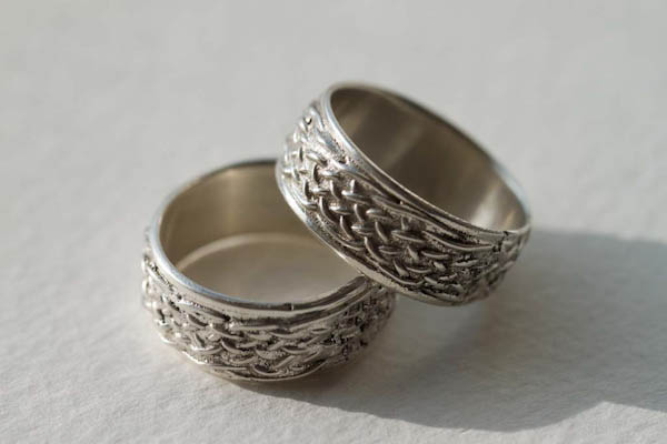 Woven Wedding Ring design created by Edmund Harris