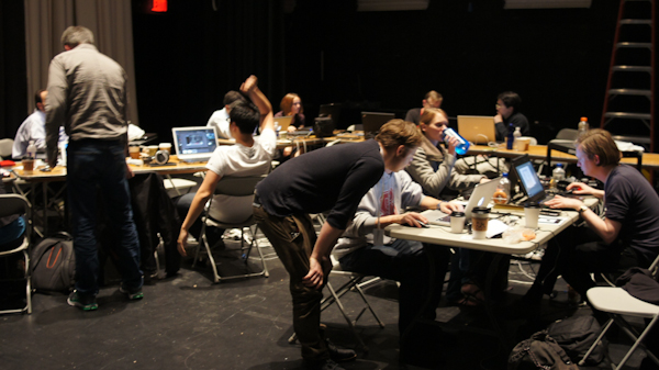The Generative Components Cluster hard at work during sg2012